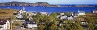 "Buildings at the coast, Trinity, Newfoundland Island,  Canada by Panoramic Images - 27"" x 9"""