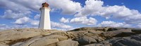 """Low Angle View Of A Lighthouse, Peggy's Cove, Nova Scotia, Canada by Panoramic Images - 27"""" x 9"""""""