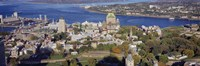 """High angle view of buildings in a city, Quebec City, Quebec, Canada by Panoramic Images - 27"""" x 9"""""""