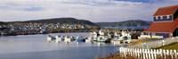 "Boats in a harbor, Bonavista Harbour, Newfoundland, Newfoundland And Labrador, Canada by Panoramic Images - 27"" x 9"" - $28.99"