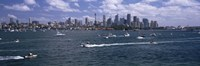 """Boats in the sea, Sydney Harbor, Sydney, New South Wales, Australia by Panoramic Images - 27"""" x 9"""""""