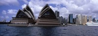"""Opera house at the waterfront, Sydney Opera House, Sydney Harbor, Sydney, New South Wales, Australia by Panoramic Images - 27"""" x 9"""""""