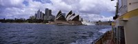 """Buildings at the waterfront, Sydney Opera House, Sydney Harbor, Sydney, New South Wales, Australia by Panoramic Images - 27"""" x 9"""""""