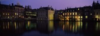 """Buildings at the waterfront, Binnenhof, The Hague, South Holland, Netherlands by Panoramic Images - 27"""" x 9"""""""