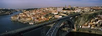 "Bridge across a river, Dom Luis I Bridge, Duoro River, Porto, Portugal by Panoramic Images - 27"" x 9"", FulcrumGallery.com brand"