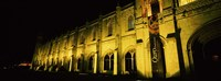 "Low angle view of a monastery at night, Mosteiro Dos Jeronimos, Belem, Lisbon, Portugal by Panoramic Images - 27"" x 9"""