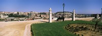 """Formal garden in a city, Alfama, Lisbon, Portugal by Panoramic Images - 27"""" x 9"""", FulcrumGallery.com brand"""