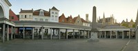 "Facade of an old fish market, Vismarkt, Bruges, West Flanders, Belgium by Panoramic Images - 27"" x 9"" - $28.99"