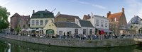 """Buildings at the waterfront, Bruges, West Flanders, Belgium by Panoramic Images - 27"""" x 9"""""""