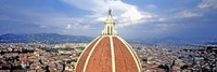 """High section view of a church, Duomo Santa Maria Del Fiore, Florence, Tuscany, Italy by Panoramic Images - 27"""" x 9"""""""