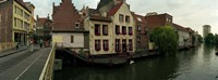 """Buildings at the waterfront, Patershol, Ghent, East Flanders, Flemish Region, Belgium by Panoramic Images - 27"""" x 9"""""""