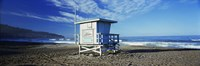 """Lifeguard hut on the beach, Torrance Beach, Torrance, Los Angeles County, California, USA by Panoramic Images - 27"""" x 9"""""""