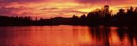 Lake at Sunset Vermont USA