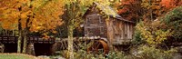 """Glade Creek Grist Mill, Babcock State Park, West Virginia, USA by Panoramic Images - 27"""" x 9"""", FulcrumGallery.com brand"""