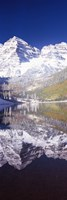 """Maroon Bells, Aspen, Pitkin County, Colorado by Panoramic Images - 9"""" x 27"""" - $28.99"""
