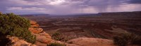 "Clouds over an arid landscape, Canyonlands National Park, San Juan County, Utah by Panoramic Images - 27"" x 9"", FulcrumGallery.com brand"