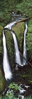 "High angle view of a waterfall in a forest, Triple Falls, Columbia River Gorge, Oregon (vertical) by Panoramic Images - 9"" x 27"""
