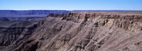 "High angle view of a canyon, Fish River Canyon, Namibia by Panoramic Images - 27"" x 9"""