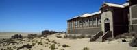 """Abandoned hospital in a mining town, Kolmanskop, Namib desert, Karas Region, Namibia by Panoramic Images - 27"""" x 9"""""""
