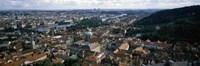 "Aerial view of Prague, Czech Republic by Panoramic Images - 27"" x 9"""