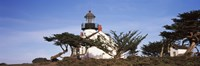 """Low angle view of a lighthouse, Point Pinos Lighthouse, Pacific Grove, California by Panoramic Images - 27"""" x 9"""""""
