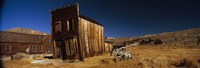 """Abandoned buildings on a landscape, Bodie Ghost Town, California, USA by Panoramic Images - 27"""" x 9"""""""