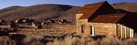"""Abandoned houses in a village, Bodie Ghost Town, California, USA by Panoramic Images - 27"""" x 9"""""""