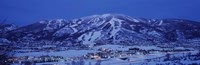 """Tourists at a ski resort, Mt Werner, Steamboat Springs, Routt County, Colorado, USA by Panoramic Images - 27"""" x 9"""""""