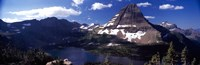 "Mountain range at the lakeside, Bearhat Mountain, Hidden Lake, Us Glacier National Park, Montana, USA by Panoramic Images - 27"" x 9"""