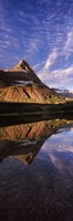 "Reflection of a mountain in a lake, Alpine Lake, US Glacier National Park, Montana, USA by Panoramic Images - 9"" x 27"""