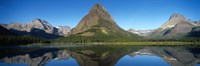 """Reflection of mountains in Swiftcurrent Lake, Many Glacier, US Glacier National Park, Montana, USA by Panoramic Images - 27"""" x 9"""""""