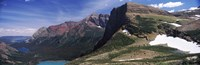 "Lake surrounded with mountains, Alpine Lake, US Glacier National Park, Montana by Panoramic Images - 27"" x 9"""