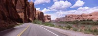 """Highway along rock formations, Utah State Route 279, Utah, USA by Panoramic Images - 27"""" x 10"""" - $28.99"""