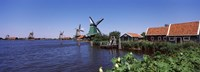 """Open air museum at the waterfront, Zaanse Schans, Zaanstad, North Holland, Netherlands by Panoramic Images - 27"""" x 9"""""""