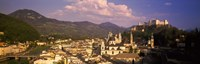 """High angle view of a city, Salzburg, Austria by Panoramic Images - 27"""" x 9"""", FulcrumGallery.com brand"""