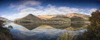 """Reflection of Vineyards in the River, Cima Corgo, Duoro River, Portugal by Panoramic Images - 27"""" x 9"""""""