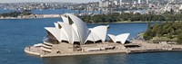 "Aerial view of Sydney Opera House, Sydney Harbor, Sydney, New South Wales, Australia by Panoramic Images - 27"" x 9"""