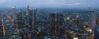 """Aerial view of a city, Frankfurt, Hesse, Germany by Panoramic Images - 27"""" x 9"""", FulcrumGallery.com brand"""
