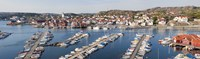 "Boats at a harbor, Skarhamn, Tjorn, Bohuslan, Vastra Gotaland County, Sweden by Panoramic Images - 27"" x 9"""