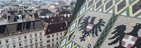 """City viewed from a cathedral, St. Stephens Cathedral, Vienna, Austria by Panoramic Images - 27"""" x 9"""""""