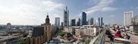 "Buildings in a city, St. Catherine's Church, Hauptwache, Frankfurt, Hesse, Germany 2010 by Panoramic Images, 2010 - 27"" x 9"""