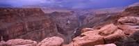Toroweap Overlook with River, North Rim, Grand Canyon National Park, Arizona, USA Fine Art Print