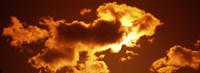 """Clouds at sunset by Panoramic Images - 27"""" x 9"""""""