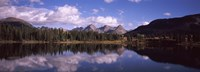 """Reflection of trees and clouds in the lake, Molas Lake, Colorado, USA by Panoramic Images - 27"""" x 9"""""""