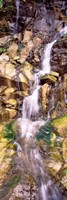 "Water flowing down rocks by Panoramic Images - 9"" x 27"""