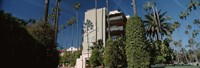 """Trees in front of a hotel, Beverly Hills Hotel, Beverly Hills, Los Angeles County, California, USA by Panoramic Images - 27"""" x 9"""""""