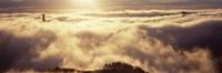 "Golden Gate Bridge Peaking through the fog, San Francisco, California by Panoramic Images - 27"" x 9"""