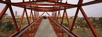 """Footbridge with a city in the background, Big Hole, Kimberley, Northern Cape Province, South Africa by Panoramic Images - 27"""" x 9"""", FulcrumGallery.com brand"""