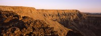 "Cliffs at sunset, Fish River Canyon, Namibia by Panoramic Images - 27"" x 9"""