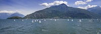 "Sailboats in the lake, Lake Como, Como, Lombardy, Italy by Panoramic Images - 27"" x 9"" - $28.99"